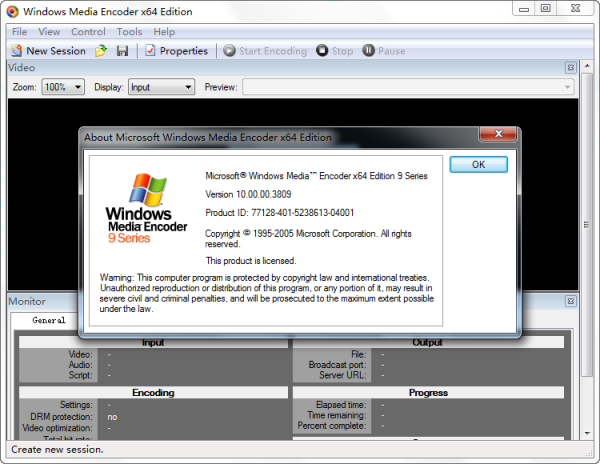 Windows Media Encoder 9 Series x64 Edition